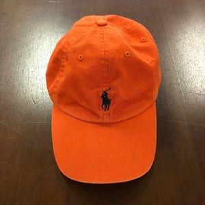 Polo Ralph Lauren Orange Strapback Dad Hat NWOT
